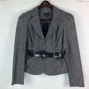 Byer California Grey Blazer Jacket with Brown Belt